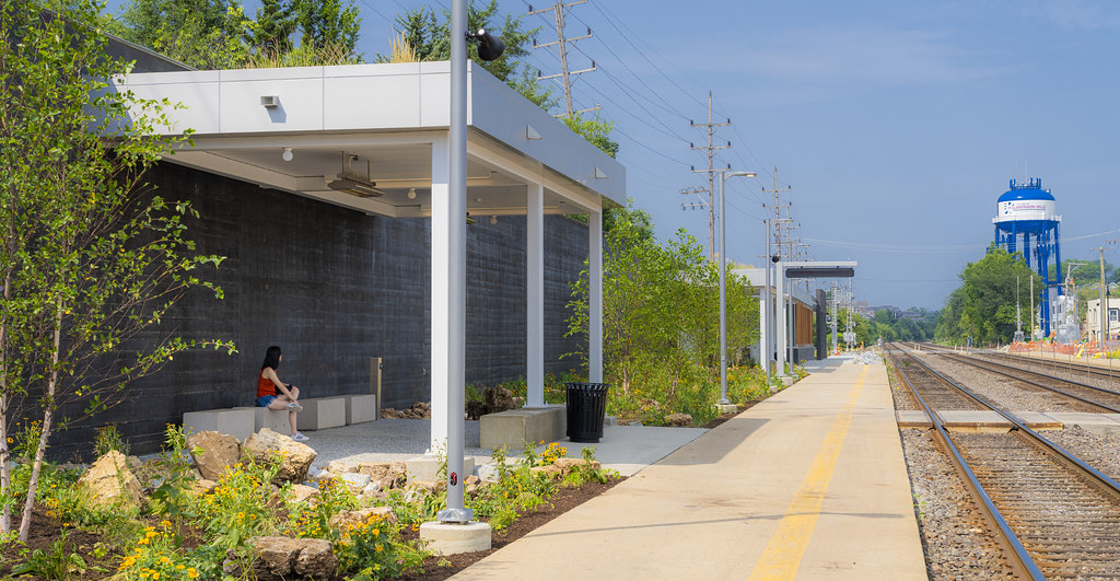 New Train Station in Clarendon Hills I