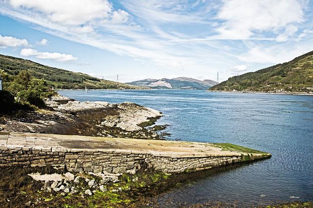 Ferry slip at Kylerhea , isle of skye