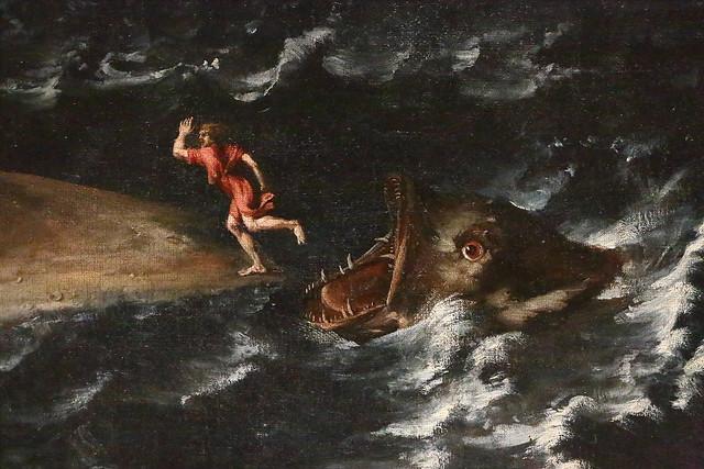 Marine avec Jonas rejeté par la baleine (détail)