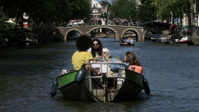 Sailing through the Amsterdam canals
