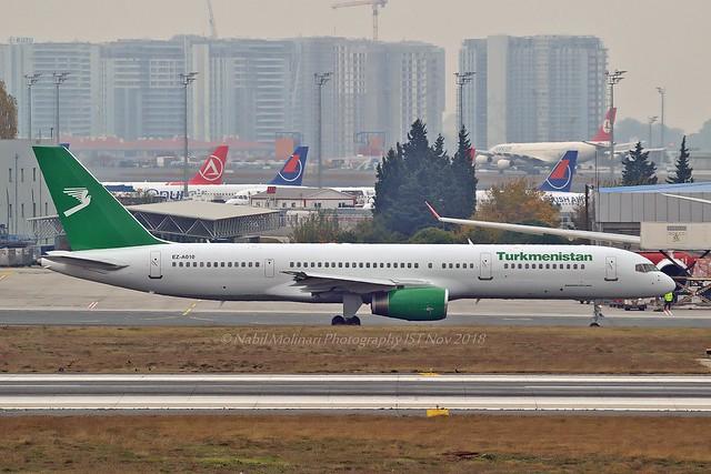 Turkmenistan Airlines EZ-A010 Boeing 757-23A cn/25345-412 @ LTBA / IST 25-11-2018