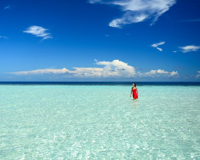 Playas vírgenes del sur de Maldivas en el atolón de Huvadhoo