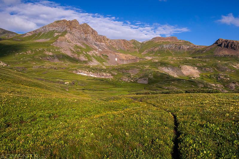 Trail Across Spencer Basin