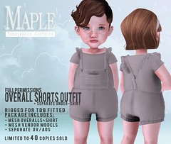 OVERALL OUTFIT FULL PERM KID AD