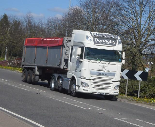 Donaghy Transport SF14 HBB At Welshpool (Ex Derek Heeps)