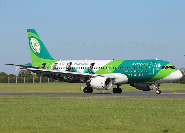 EI-DEI - Aer Lingus A320 (Irish Rugby Livery)