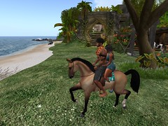 met a new friend, rode a horse...