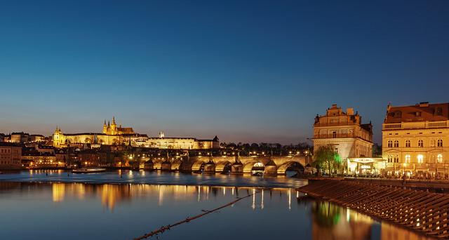 Prague blue hour