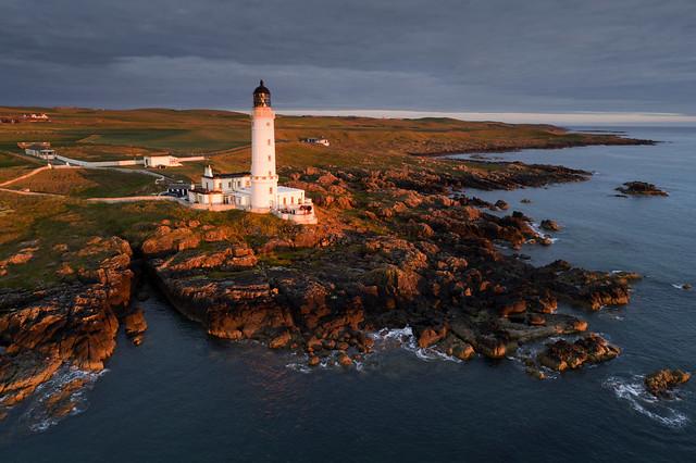 Corsewall Lighthouse at sunset