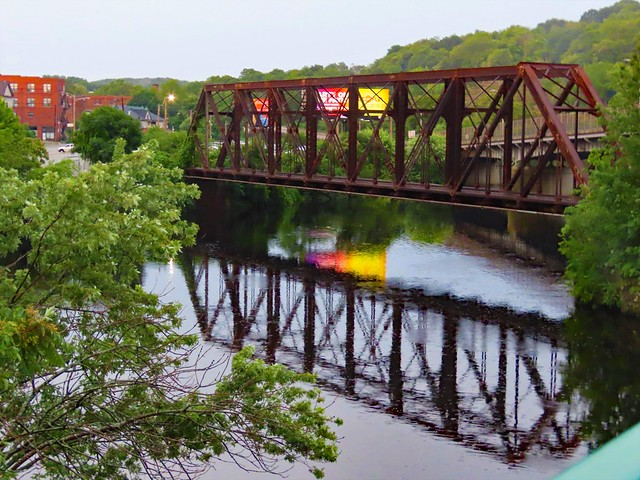 Bridge reflections, New England Photography