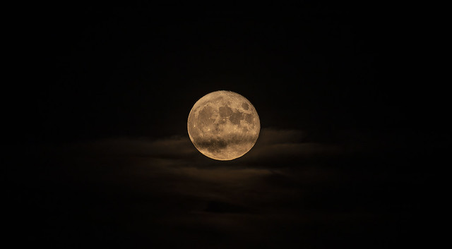 Full Buck Moon over Madrid, Spain