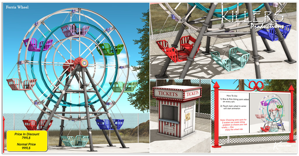 """""""Killer's"""" Ferris Wheel (Animated) On Discount @ Uber Starts from 26th July"""