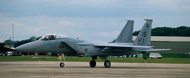F-15C, 80-0050 / IS, 57th Fighter Interceptor Squadron, Fairford Air Base, 20 July 1991