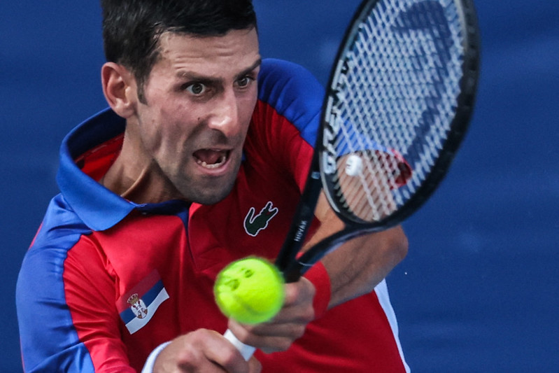 塞爾維亞球王Novak Djokovic將參加東奧網球混雙賽事。【AFP授權】