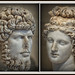 Portrait bust of Lucius Verus, Roman emperor from 161 to 169 A.D., and a marble depiction of the goddess Venus, Toledo Museum of Art, Toledo, Ohio, , July 15, 2021