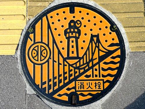 Akashi Hyogo, manhole cover 2 (兵庫県明石市のマンホール2)