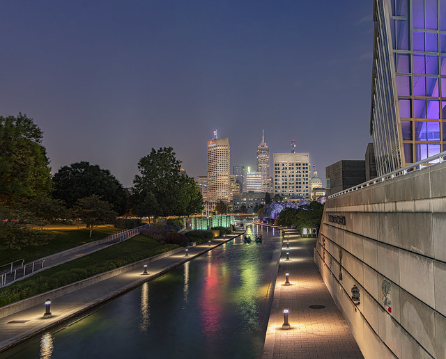 Canal Walk, with Indianapolis in the background
