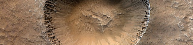 Mars - Well Preserved 2-Kilometer Impact Crater