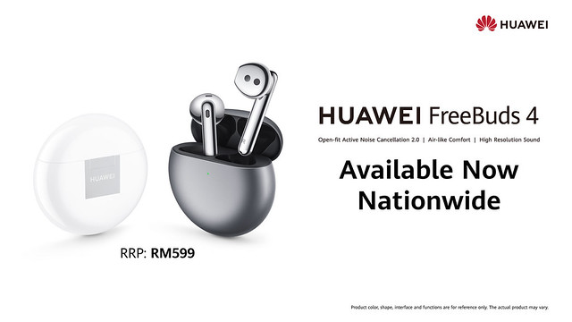 Available Now - Huawei Freebuds 4