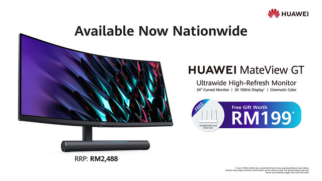 Available Now - Huawei Mateview Gt