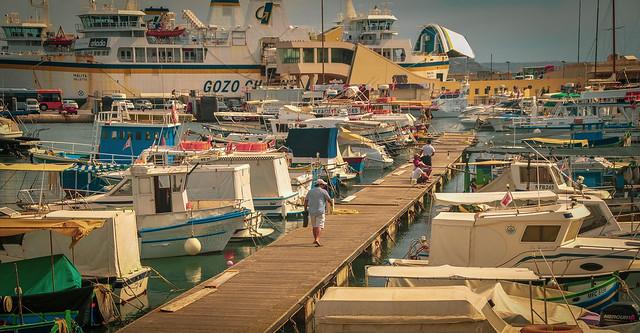 Mġarr harbour, Gozo, Malta ムガーの港、ゴゾ島、マルタ