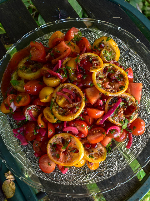 Salade de tomates cerise au citron rôti et grenade 1