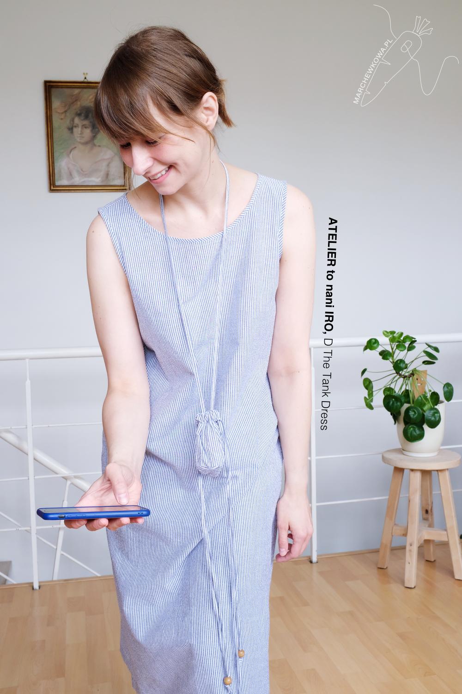 marchewkowa, szycie, seersucker, japońskie wykroje, minimalizm, sewing DIY handmade, Japanese sewing books
