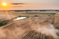 Harvesting | Prienai county aerial