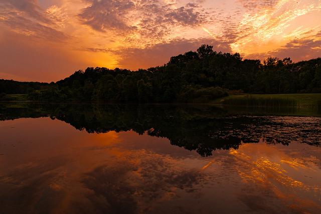 Sunset at Indigo Lake