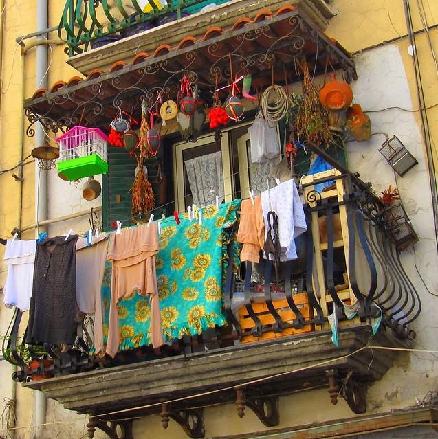 A typical Neapolitan balcony