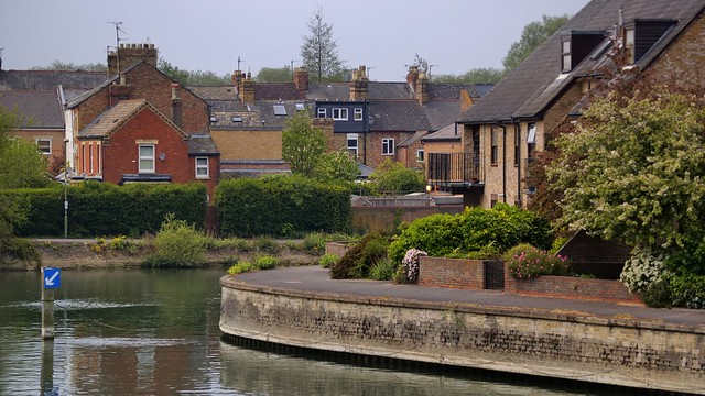 Upstream from Folly Bridge, River Thames, Oxford, England