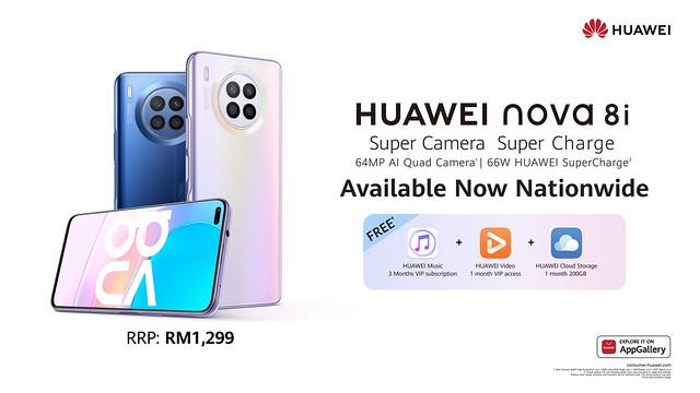 Available Now - Huawei Nova 8I