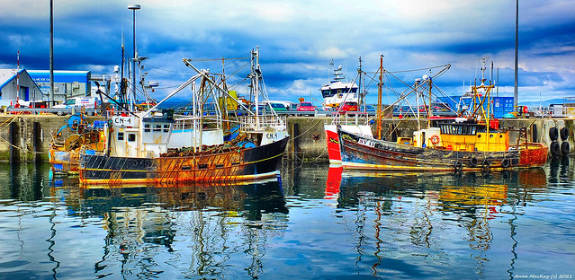 Scotland North West Highlands Mallaig old fishing trawlers 19 June 2021 by Anne MacKay