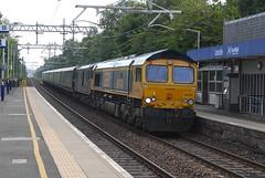 GBRf 66740 & 73967 1Y11 04:50 Edinburgh to Fort William diversion via the E&G