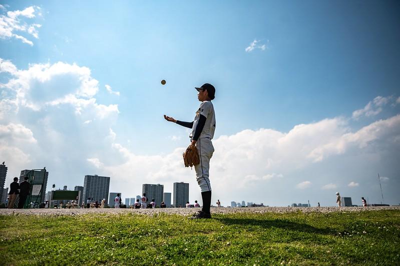 日本少年棒球員。【AFP授權】