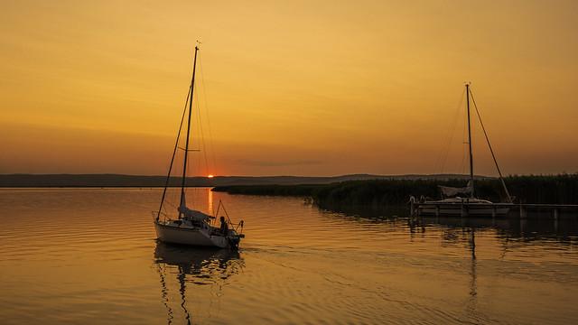 Sailing on Lake Neusiedl