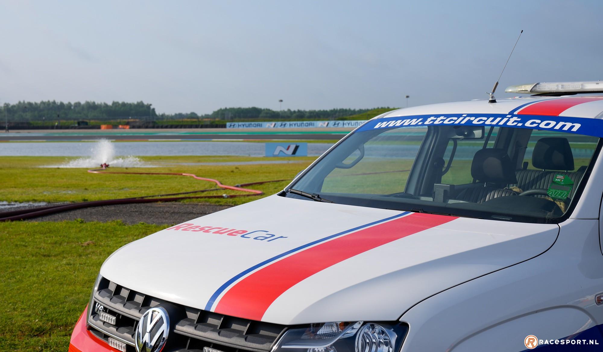 Wateroverlast TT Circuit Assen