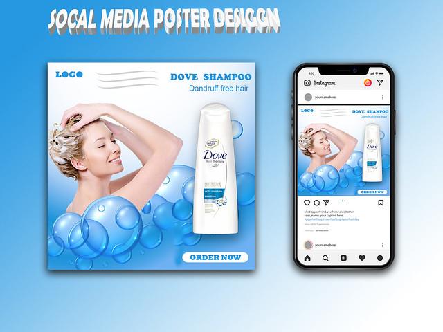 Socal media poster design