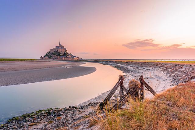 Low tide at Mont Saint-Michel