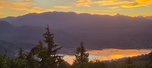 Sunrise view from Burnaby Mountain