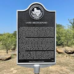 Lake Bridgeport . #markermonday #texashistoricalmarkers #texastravel #traveltexas #texas #LakeBridgeportTX