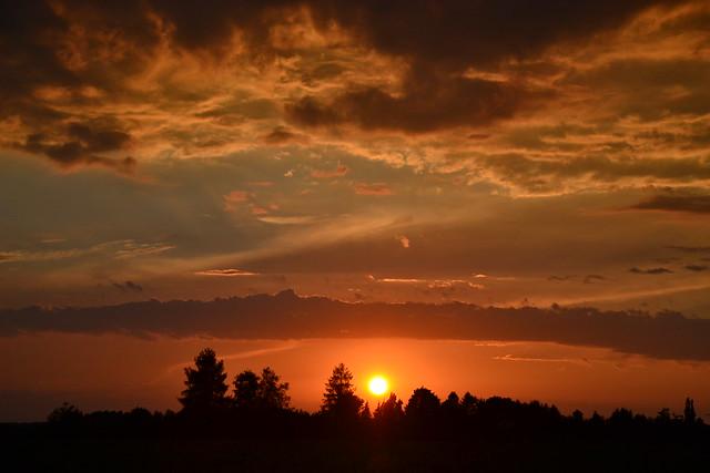 Sunset - explored! Thanks!