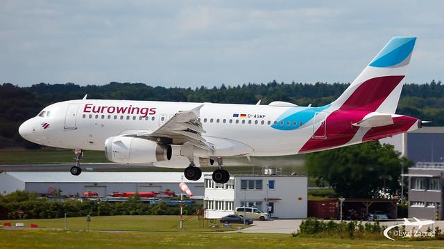 HAM - Eurowings Airbus A319 D-AGWF