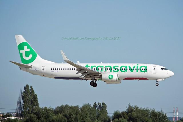 Transavia France F-HTVE Boeing 737-8K2 Winglets cn/62155-6318 @ LFPO / ORY 18-07-2021