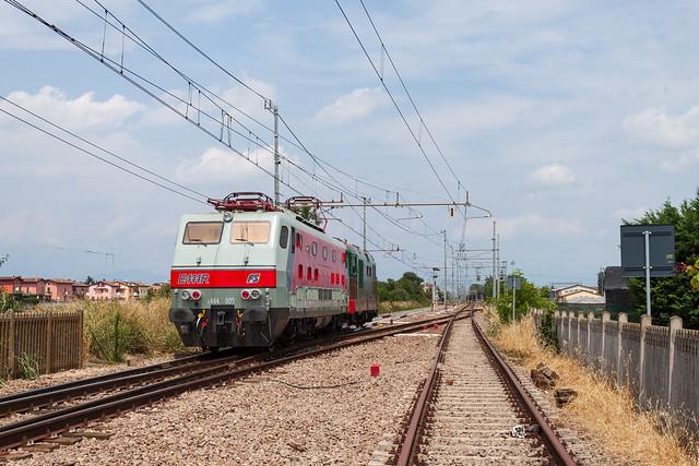 E.444.005 e D.345.1055 presso Mozzecane (VR)