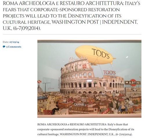 """RARA 2021. """"Vendiamo il Colosseo"""". Ma in formato digitale. La Repubblica (26/07/2021). S.v., Fausta Vitali (figlia di Dario Vitali, segretario di Benito Mussolini) ...offerta di $1.000.000 USD per l'acquisto del Colosseo. ROME DAILY SENTINEL (06/10/1972)"""