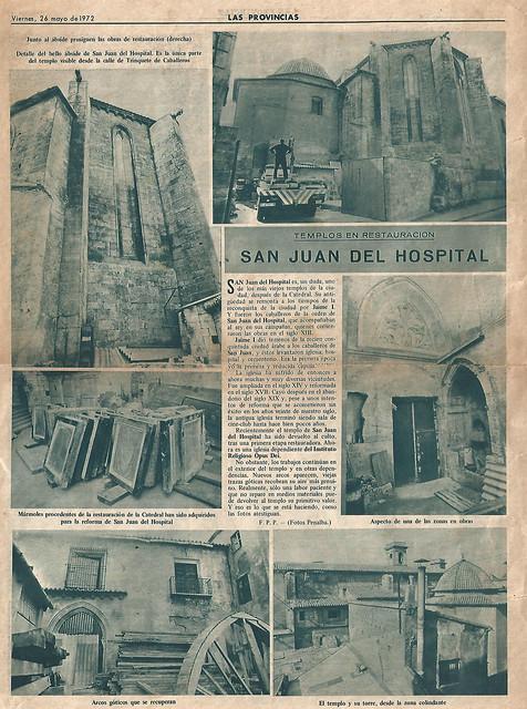 """Diario """"Las Provincias"""" 26 de Mayo 1972"""