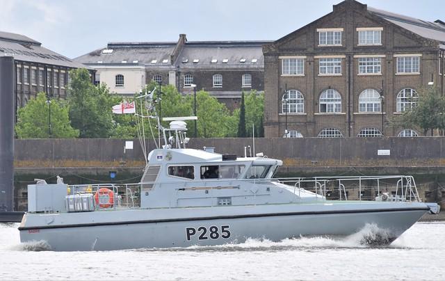 HMS Sabre P285 (2) @ Gallions Reach 27-07-21