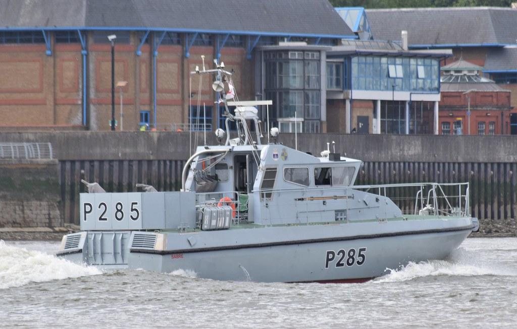 HMS Sabre P285 (3) @ Gallions Reach 27-07-21