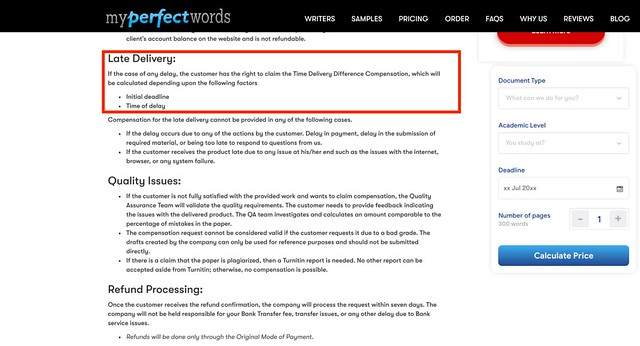 MyPerfectWords revision